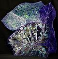 Multi-Leaf Platter - Blue - Hand-built, original art piece that is food safe. Available in many finishes.