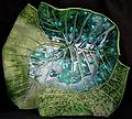 Multi-Leaf Platter - Green - Hand-built, original art piece that is food safe. Available in many finishes.