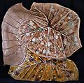 Three-Leaf Platter - Natural - Hand-built, original art piece that is food safe. Available in many finishes.
