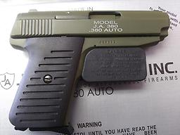 Jimenez Arms JA-380 NEW Jimenez Arms in 380 has two mags In Cerakote Sniper Green All firearms need to be shipped to FFL
