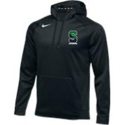 Sonoma Swim Men's Black Therma Hoodie Nike Men's Therma Fleece Hoodie with left chest logo