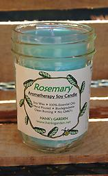 ROSEMARY Aromatherapy Soy Candle Clean Burning Soy Candles with 100% Pure Essential Oil of ROSEMARY (Rosmarinus officinalis) Stimulating, Uplifting, Rejuvenating