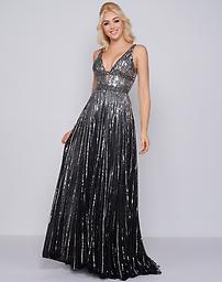 Mac Duggal 4906 in Black/Silver Available in size 8