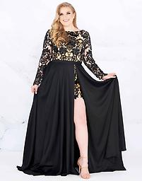 Mac Duggal 66809 in Black Available in size 18W