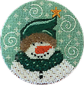 April 2019 Snow Person - Exclusive Diversions Needlepoint hand painted canvas, threads and stitch guide by Mary Lou Kidder. SHIPPING INCLUDED!