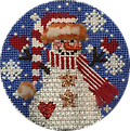 February Snow Person - Exclusive Diversions Needlepoint hand painted canvas, threads and stitch guide by Mary Lou Kidder. SHIPPING INCLUDED!