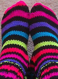 Making Sock on DPN's June 20 & 27, July 11 Learn to make socks in worsted from a guide then apply your new skills to other weights of yarn.