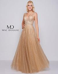 Mac Duggal 77402 in Gold Available in size: 2 / 6