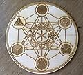 Metatron's Cube Platonic Solids Crystal Grid - Crystal Grid
