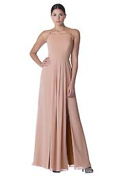 Bari Jay Bridesmaid Gown 1769 in Deco Blush Bella Chiffon Available in-store in size 14; available to order in additional sizes, colors, and lengths.
