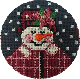 June 2019 Snow Person Exclusive Diversions Needlepoint hand painted canvas, threads and stitch guide by Mary Lou Kidder. SHIPPING INCLUDED!