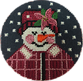 June 2019 Snow Person - Exclusive Diversions Needlepoint hand painted canvas, threads and stitch guide by Mary Lou Kidder. SHIPPING INCLUDED!