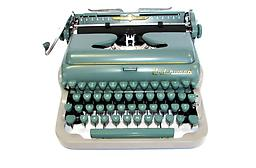 Underwood Quiet Tab (green/gray) Collectible Portable Typewriter ON SALE NOW!