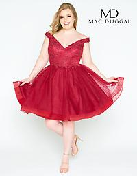 Mac Duggal 67608 in Burgundy Available in size 20W