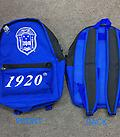 Zeta Backpack - Zeta backpack blue black and white with charger port.