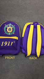 Omega Backpack Omega purple and yellow backpack with built in charger port.