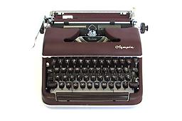 Olympia SM3 (Maroon) Collectible Portable Typewriter