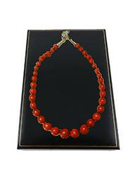 "B3 Lady In Red abacus bead necklace THE LADY IN RED""... NECKLACE