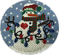 July 2019 Snow Person - Exclusive Diversions Needlepoint hand painted canvas, threads and stitch guide by Mary Lou Kidder. SHIPPING INCLUDED!