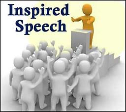 Inspired Speech - Thursdays Inspired Speech Thursdays July 11th, 18, 25th August 15th, 22nd, 29th 7:30 pm – 9 pm Instructor: Rev. Norma Victor
