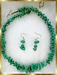 #4 TURQUOISE NECKLACE & EARRINGS SET - This beautiful set consists of an approximate 20 inch turquoise necklace and a set of earrings (approx. 1 inch) to match. Beautiful !!!