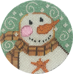 August 2019 Snow Person Exclusive Diversions Needlepoint hand painted canvas, threads and stitch guide by Mary Lou Kidder. SHIPPING INCLUDED!