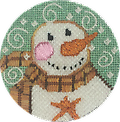 August 2019 Snow Person - Exclusive Diversions Needlepoint hand painted canvas, threads and stitch guide by Mary Lou Kidder. SHIPPING INCLUDED!