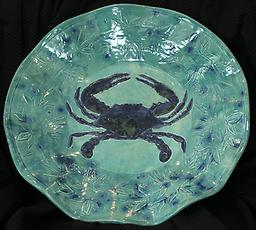 Blue Crab Platter Beautiful, Food-Safe Serving Platter that would be the hit of any party. Serve entrées, appetizers, cold-cuts and cheese or something special from your favorite deli.
