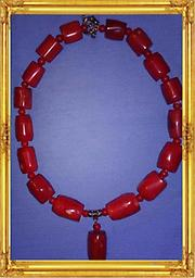 B7 Red Coral Necklace Absolutely Beautiful Red Coral Necklace, approximately 17.5 inches long. Great Christmas gift for any lady