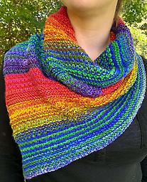 "Bandanatastic Cowl Bandana style + fantastic yarn = Bandanacastic Cowl! Urth Yarns self striping Uneek yarn, two skeins. A fun, ""easy"" twist to the Shift Cowl. You will want to make several."