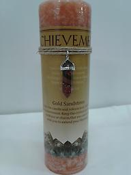 Achievement Gold Sandstone necklace included