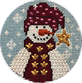 October 2019 Snow Person - Exclusive Diversions Needlepoint hand painted canvas, threads and stitch guide by Mary Lou Kidder. SHIPPING INCLUDED!