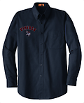 """A - VMS Long Sleeve Button Down_Navy - Right Chest embroidery w/ Personalization optional for an additional $7.00. Please See Item Z to add personalization. When checking out, please include name in the """"NOTE TO SELLER"""" box."""