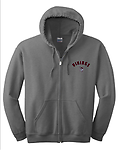 CC - VMS Full Zip Hooded Sweatchirt-Grey - Left Chest Embroidery