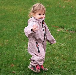 "Ducksday ""All-Weather"" Rainsuit (June) The original Ducksday rainsuit. DucKsday rainsuits provide a flexible solution for any weather. A must have for little ones in the outdoors."