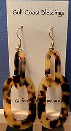 Acrylic hook earrings Acrylic oval hook tortoise earrings