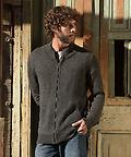 Alpaca Country Cardigan - Men's Zip Cardigan in soft alpaca!