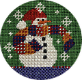 December 2019 Snow Person - Exclusive Diversions Needlepoint hand painted canvas, threads and stitch guide by Mary Lou Kidder. SHIPPING INCLUDED!