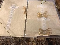 "5 Packs - The Bride/Quinceanera A special Keepsake called ""His Princess,"" for the bride or daughter celebrating her Quinceanera! It also includes 2 thank you cards and 2 blank note cards in a gift box. Words in ""Details."""