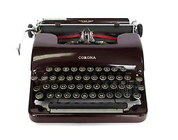 Corona Sterling (Maroon) Collectible Portable Typewriter
