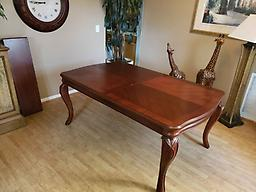 Macy's Bordeaux Dining Room Table with TWO Leaves Macy's Bordeaux Dining Room Table with TWO Leaves