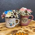 Coffee Mug Bouquet - Coffee mug filled with designer choice of flowers