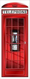 Red English Phone Booth Repositionable Door Decal Red English Phone Booth Repositionable Door Decal (Choose unlaminated or laminated)