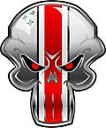 "Buckeye Punisher Repositionable Decal – Regular Style - Buckeye Punisher Repositionable Decal – Regular Style (16"" H or 16"" W)"