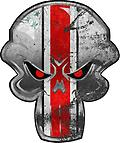 "Buckeye Punisher Repositionable Decal – Distressed Style - Buckeye Punisher Repositionable Decal – Distressed Style (16"" H or 16"" W)"