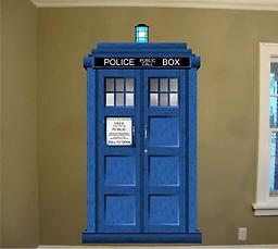 Dr. Who Tardis Large Wall Repositionable Decal Dr. Who Tardis Large Wall Repositionable Decal