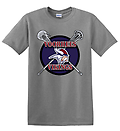 A - Vikings Lacrosse Short Sleeve Cotton T-Shirt_Sport Grey - Full Front Screen Print