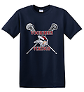 B - Vikings Lacrosse Short Sleeve Cotton T-Shirt_Navy - Full Front Screen Print