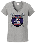 C - Vikings Short Sleeve Ladies' Cotton T-Shirt_Sport Grey - Full Front Screen Print