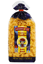 Armbruster Black Forest Noodles, Extra Broad 16oz !! US SELLER !! NO GMO Barn eggs, Authentic German egg noodles from the Black Forest. The Black Forest is known for its untouched nature and ancient, proven traditions. Our egg noodles are made with the finest ingredients ,